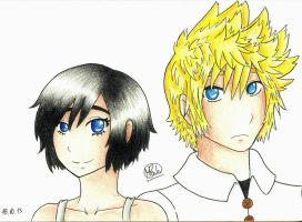 Roxas and Xion by PunkyGothic