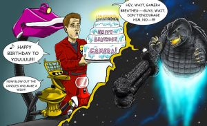 Happy Birthday Gamera from the Satellite of Love by KaijuDuke