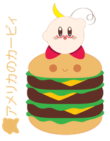 American Kirby Triple Stack for FB Friend ::GIFT:: by Itachi-Roxas