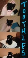 Toothless (crochet) Plushie by HimmeltheBlue