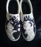 my sons shoes inked by me by travisJhanson