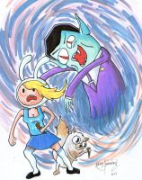 Fionna the Vampire Slayer by johnnyism