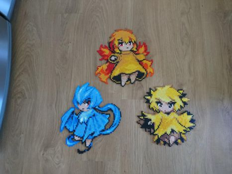 Moemon #1-3 Moltres, Articuno and Zapdos by MagicPearls