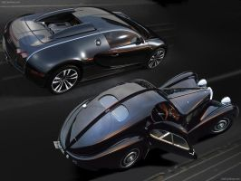 Bugatti New and old by KGWilder