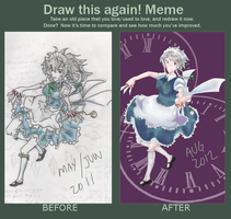 Draw This Again: Sakuya Izayoi by shmu-h