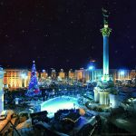 Nightly Kiev. Maidan by AlexGontar
