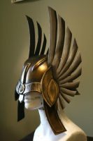 Dark Xena Helmet by BrassIvyDesign