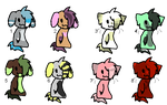 Cat and dog adoptables! by Zoesadopts4u