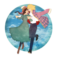 Howl's Moving Castle: Sophie and Howl by Ylden