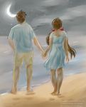 The Moon and the Ocean (Day 1 of OTP challenge) by Royalcheshirecat20