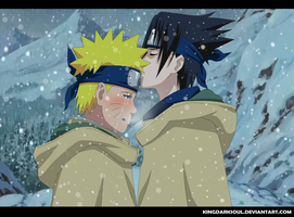 Sasunaru in the land of snow by KingDarkSoul
