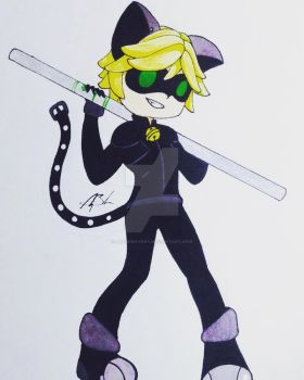 Chat Noir by MeowImAvery