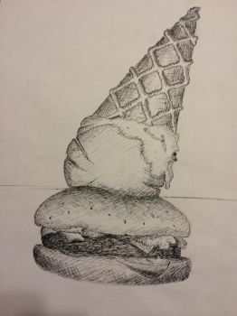 Ice Cream Burger by kingsmexy