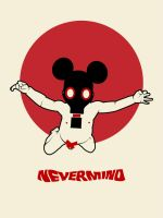 nevermind with gas mask by Three-Fish