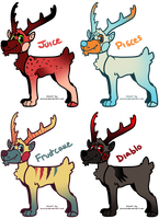 Antler Cheeb Adoptables! [all available!] by ShadowDAdopts