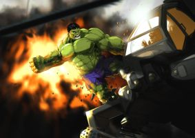 Hulk Versus Helicopter by TheRealArtanas