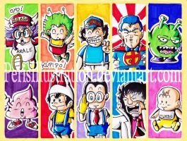 Dr Slump Stickers by PerisIllustration