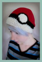Handmade Crochet Pokeball Hat by Ashler-Sauce