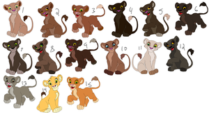 Cub Adopts 1 CLOSED by Howler-Adoptables
