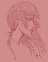 Profile in Red by Asteyni