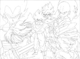 Dragonball Z WIP by pete-tiernan