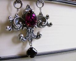 Amethyst and Black Crystal Necklace 1 by Aranwen