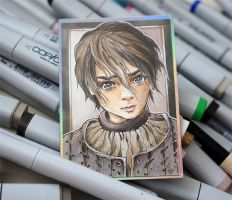 ACEO 068 Arya Stark/ Game of Thrones by WojikHell