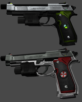 Umbrella M92Fs and Tricell M92F by RealMoonlight