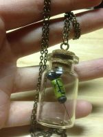 Green Syringe Necklace by Arsenious