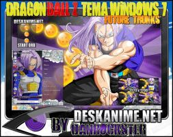 Future Trunks Theme Windows 7 by Danrockster