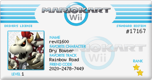 mario kart wii license by revolutionX1600