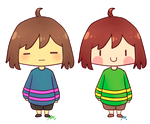 Frisk and Chara by wivimon