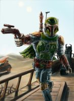 Boba Fett-Trouble on Tattooine by antonvandort