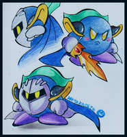 Metaknight Doodles by PurpleRAGE9205