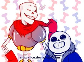 Skeleton Bros by Animalice
