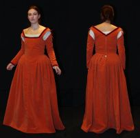 Orange Renaissance dress by Celefindel