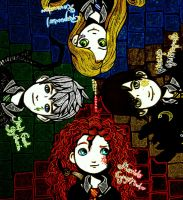 big four: hogwarts by esmesabepi
