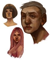 Faces practice by ophilino