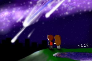 Together under the stars by ChickenChaser2