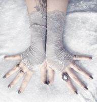 Kynthia Lace Fingerless Gloves by ZenAndCoffee