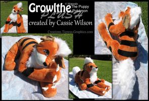 Growlithe Plush by Shalie