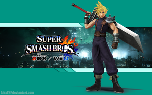 Cloud Wallpaper - Super Smash Bros. Wii U/3DS by AlexTHF
