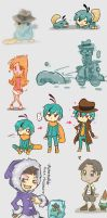 Phineas and Ferb Doodles by Mikoto-chan