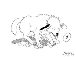 Akamaru Lineart by Formula-UK