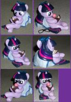 Filly Twilight Pillow Pony with glasses 4 SALE by MadPonyScientist