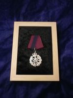 Fleet Command framed display steampunk medal by SteamworkMedals