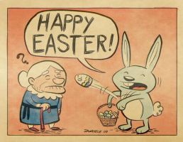 Old school Easter Bunny by Juanele