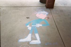 danny phantom chalk art by eileenmeierrocks
