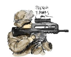 French infantry in Afganistan by hasrulGGK