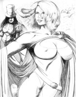 Power Girl and  Zatanna by DougSQ